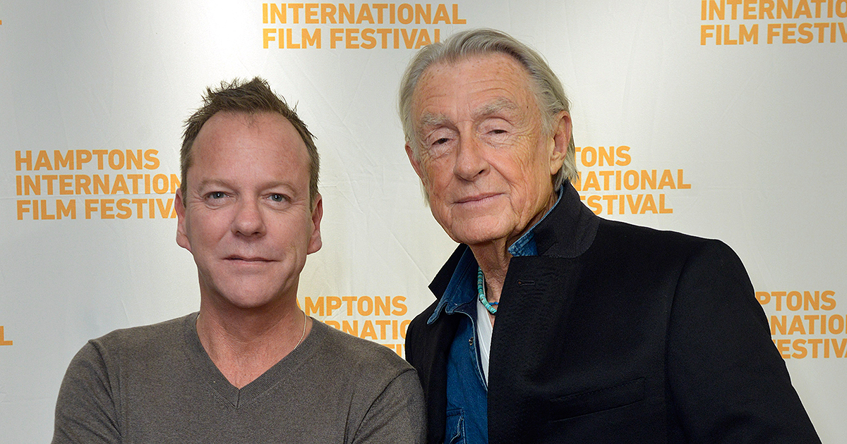 Kiefer Sutherland and Joel Schumacher attend a conversation with Joel Schumacher featuring Kiefer Sutherland during the 2014 Hamptons International Film Festival on October 11, 2014 in East Hampton, New York. (Photo by Eugene Gologursky/Getty Images for The Hamptons International Film Festival)