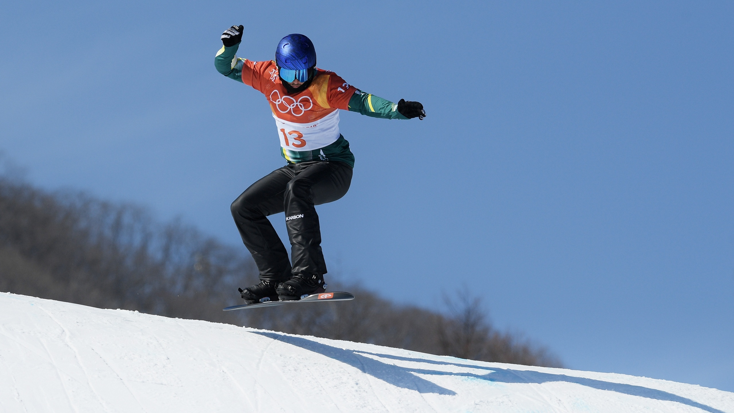 Alex Pullin of Australia competes during the Men's Snowboard Cross Seeding on day six of the PyeongChang 2018 Winter Olympic Games. (Photo by David Ramos/Getty Images)
