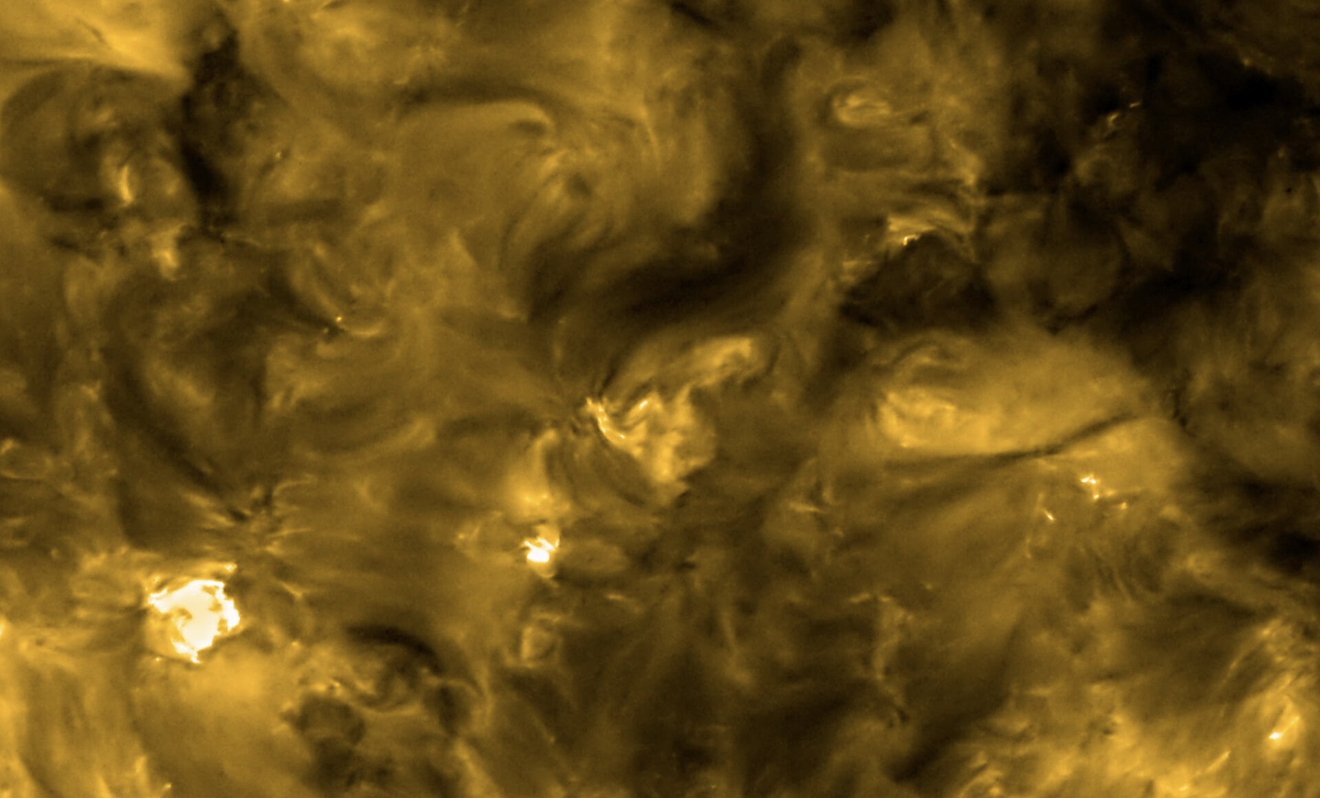 A high-resolution image from the Extreme Ultraviolet Imager (EUI) on ESA's Solar Orbiter spacecraft, taken with the HRIEUV telescope on 30 May 2020. These images show the Sun's appearance at a wavelength of 17 nanometers, which is in the extreme ultraviolet region of the electromagnetic spectrum. Images at this wavelength reveal the upper atmosphere of the Sun, the corona, with a temperature of around 1 million degrees. (Solar Orbiter/EUI Team (ESA & NASA); CSL, IAS, MPS, PMOD/WRC, ROB, UCL/MSSL)
