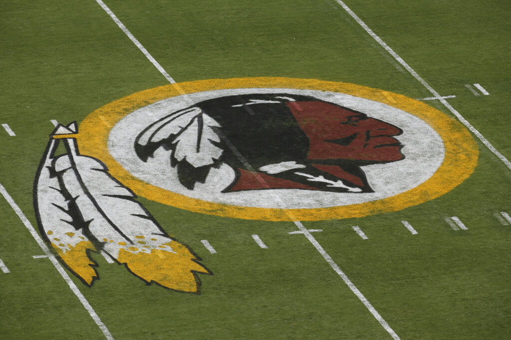 """Washington's NFL team will get rid of the name """"Redskins"""" on Monday, according to multiple reports. It's unclear when a new name will be revealed for one of the league's oldest franchises. The team launched a """"thorough review"""" of the name July 3. (AP Photo/Alex Brandon, File)"""