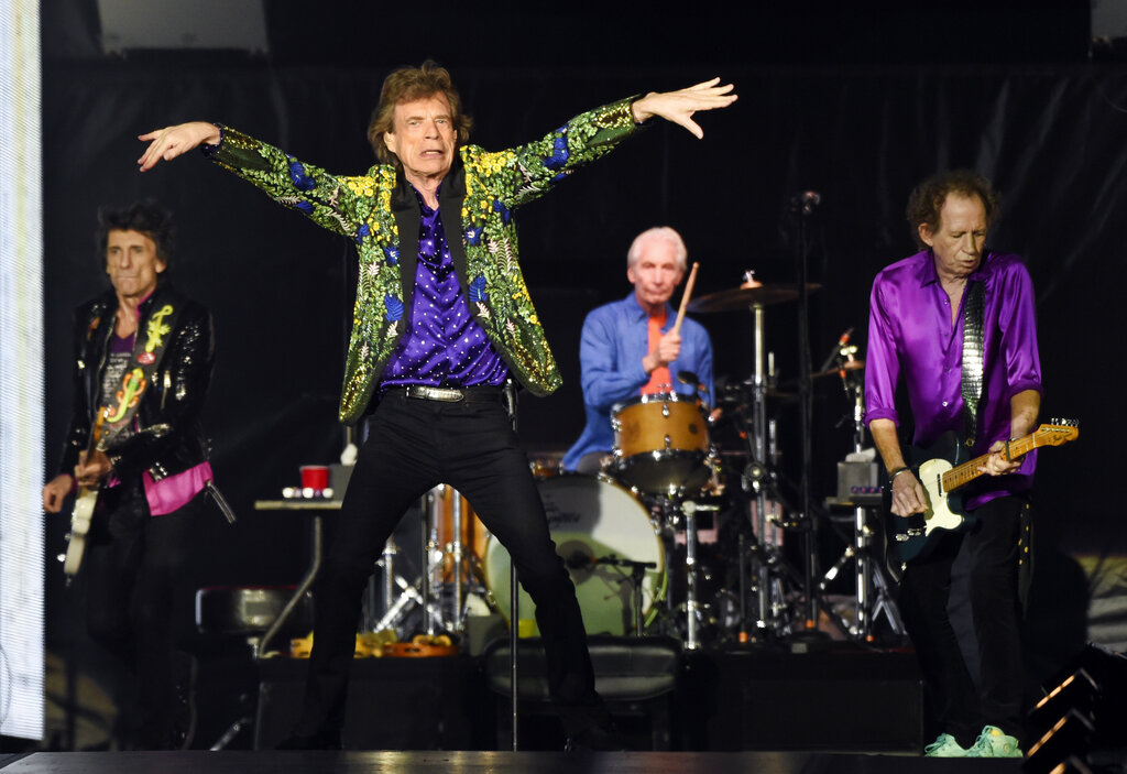 "The Rolling Stones are releasing a new version of their 1973 album ""Goats Head Soup"" with three unheard tracks. The album coming out on Sept. 4, 2020 will have a four-disc CD and vinyl box set edition with ten bonus tracks. (Photo by Chris Pizzello/Invision/AP, File)"
