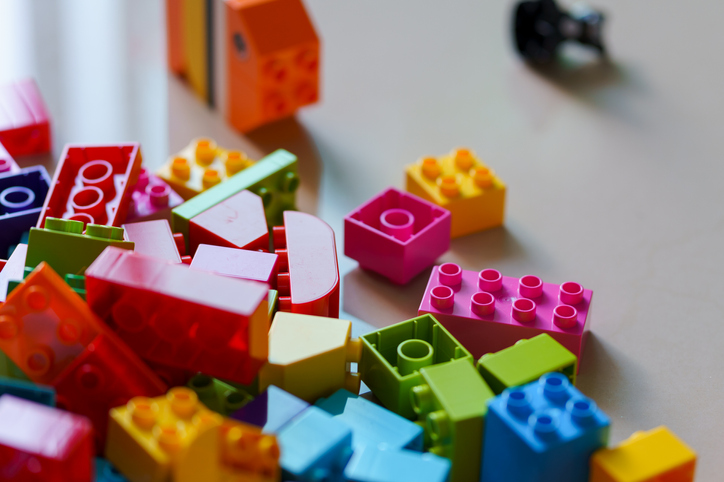 play blocks lego duplo on the floor