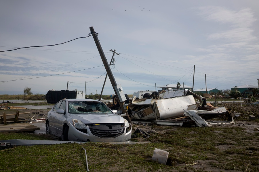 Damage in Holly Beach, Louisiana. (Photo by Eric Thayer/Getty Images)