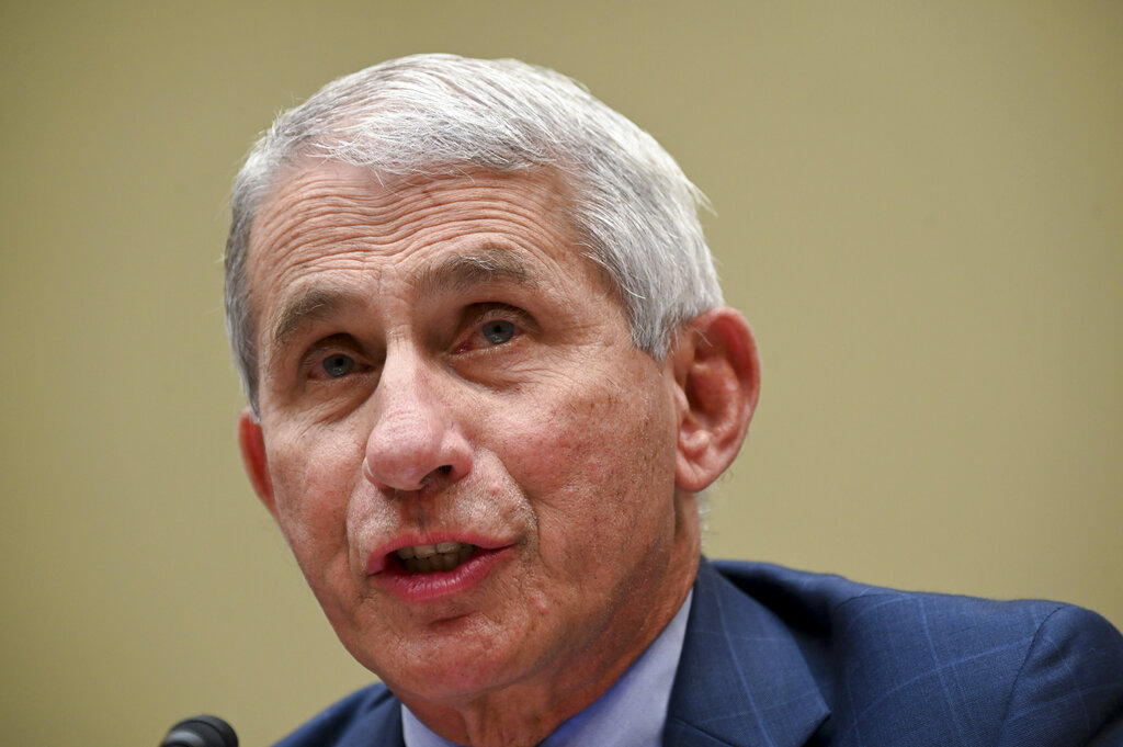 Dr. Anthony Fauci, director of the National Institute for Allergy and Infectious Diseases, testifies before a House Select Subcommittee hearing on the Coronavirus in July. (Erin Scott/Pool via AP)