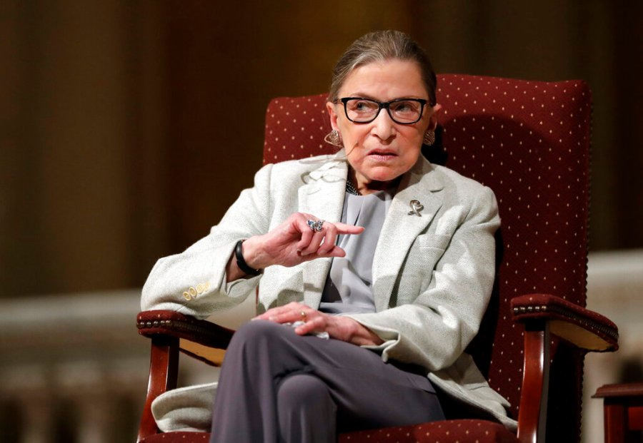Supreme Court Justice Ruth Bader Ginsburg speaks at Stanford University. (AP Photo/Marcio Jose Sanchez, File)