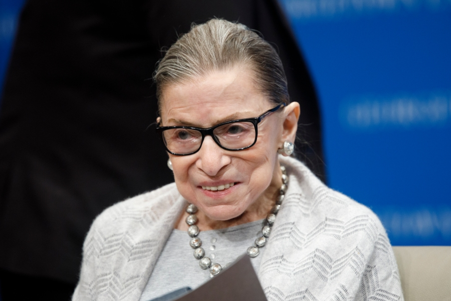 Supreme Court Justice Ruth Bader Ginsburg delivers remarks at the Georgetown Law Center on September 12, 2019, in Washington, DC. Justice Ginsburg spoke to over 300 attendees about the Supreme Court's previous term. (Photo by Tom Brenner/Getty Images)