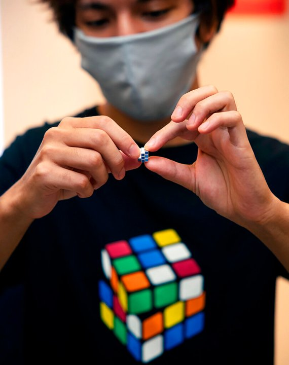 , Tiny Rubik's Cube goes on sale in Japan to mark 40th anniversary