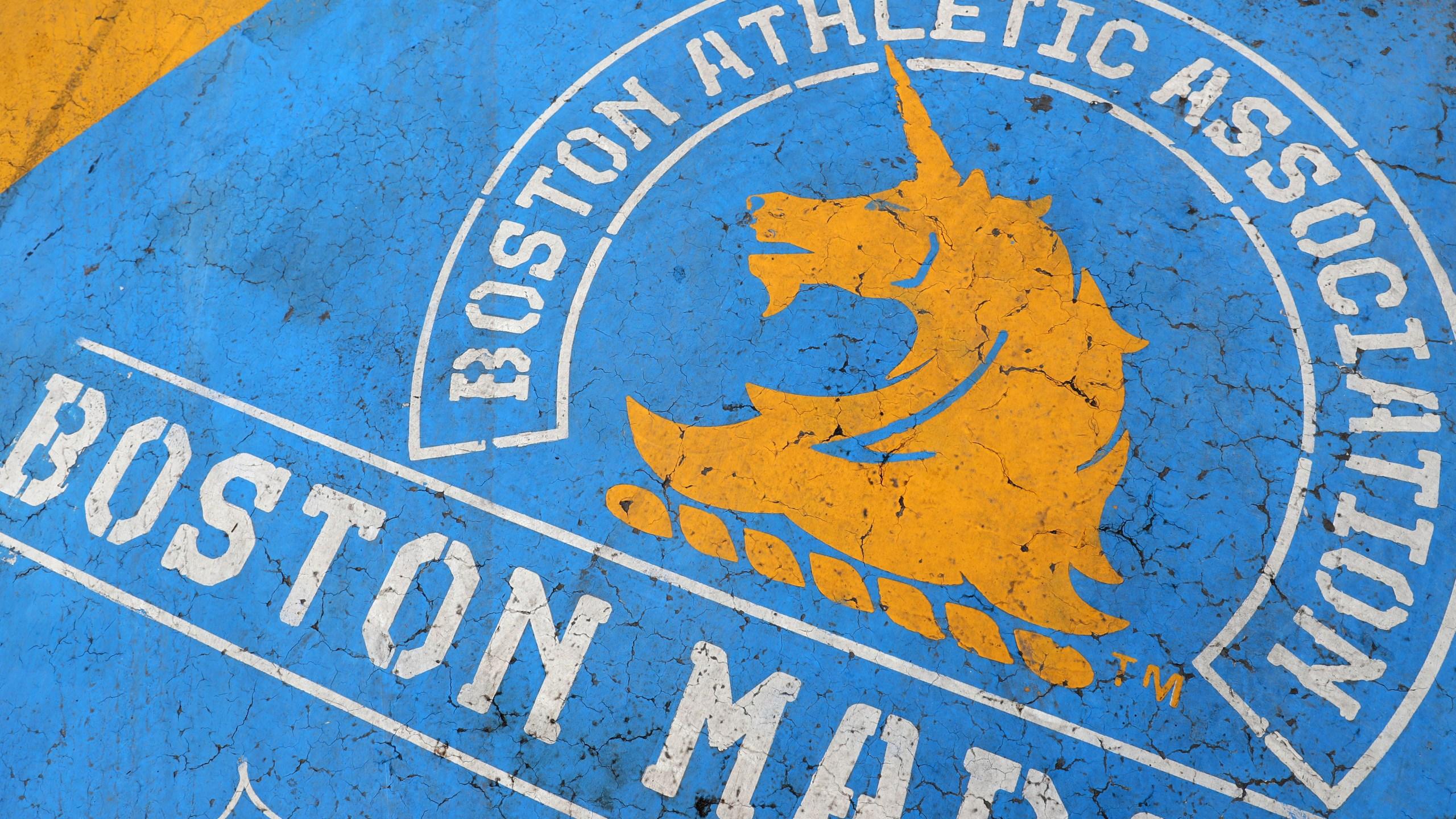 The Boston Marathon finish line. (Photo by Maddie Meyer/Getty Images)