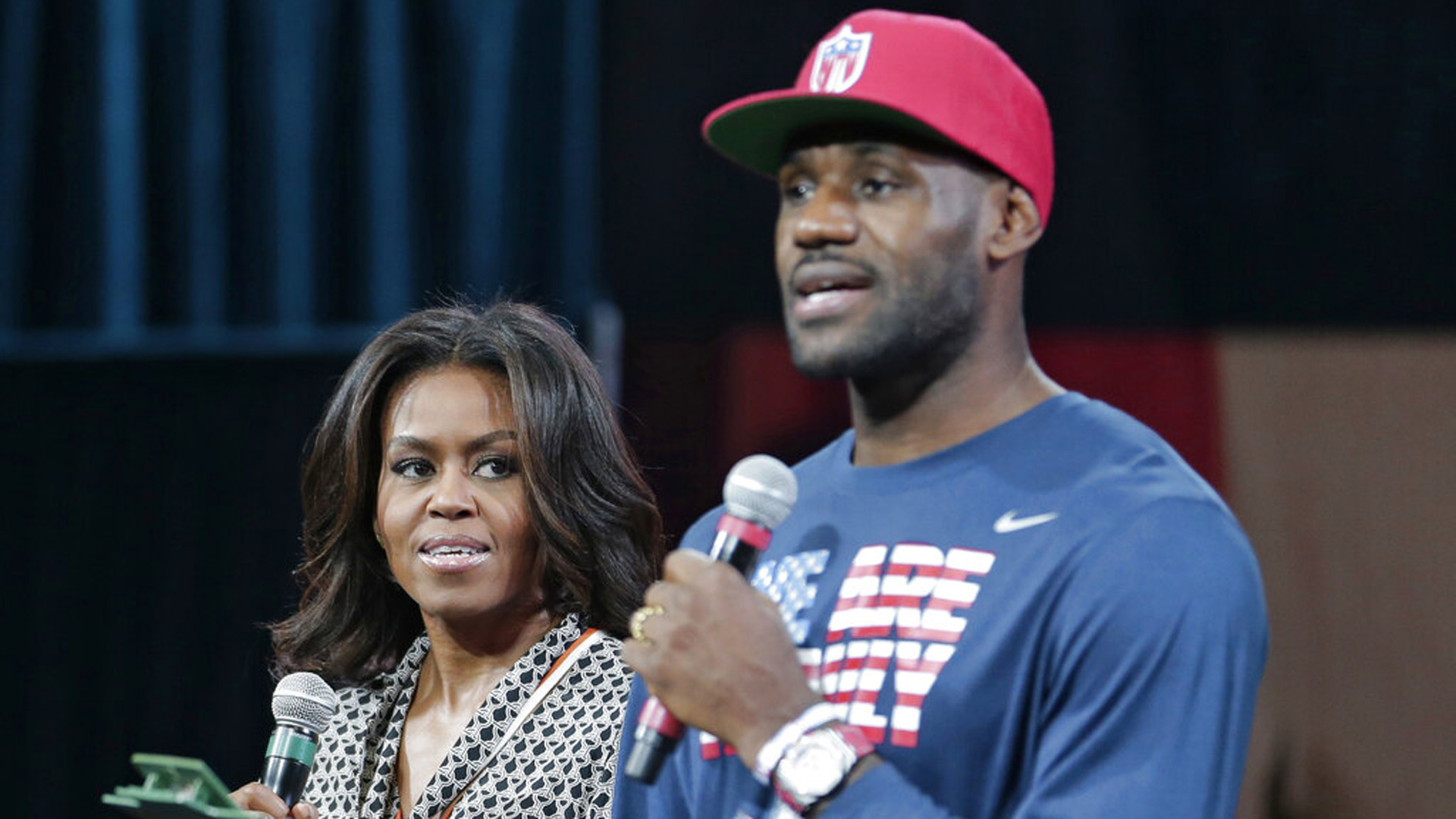 Michelle Obama and LeBron James