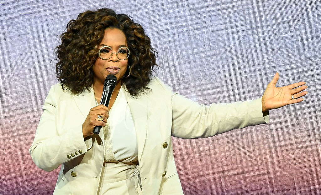 Oprah Winfrey speaks during Oprah's 2020 Vision: Your Life in Focus Tour presented by WW (Weight Watchers Reimagined) at Chase Center on February 22, 2020 in San Francisco, California. (Photo by Steve Jennings/Getty Images)