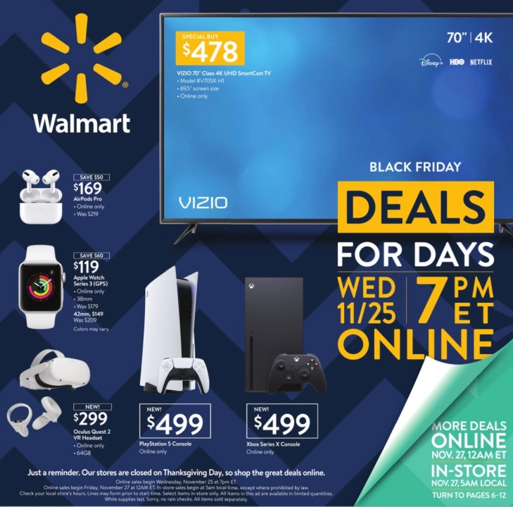 Walmart Black Friday New Deals Revealed In Final Ad Before Thanksgiving Fox 59