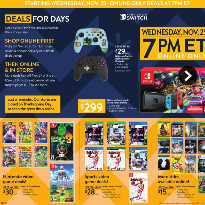 Walmart Black Friday Here S When Ps5 Nintendo Switch Apple Watch More Deals Go Live Ktla