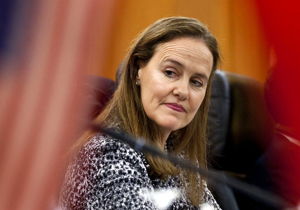Former U.S. Defense Undersecretary Michele Flournoy, prepares for a bilateral meeting in Beijing, China in 2011. Flournoy, a politically moderate Pentagon veteran, is regarded by U.S. officials and political insiders as a top choice for President-elect Joe Bide to choose to head the Pentagon. (AP Photo/Andy Wong, File)