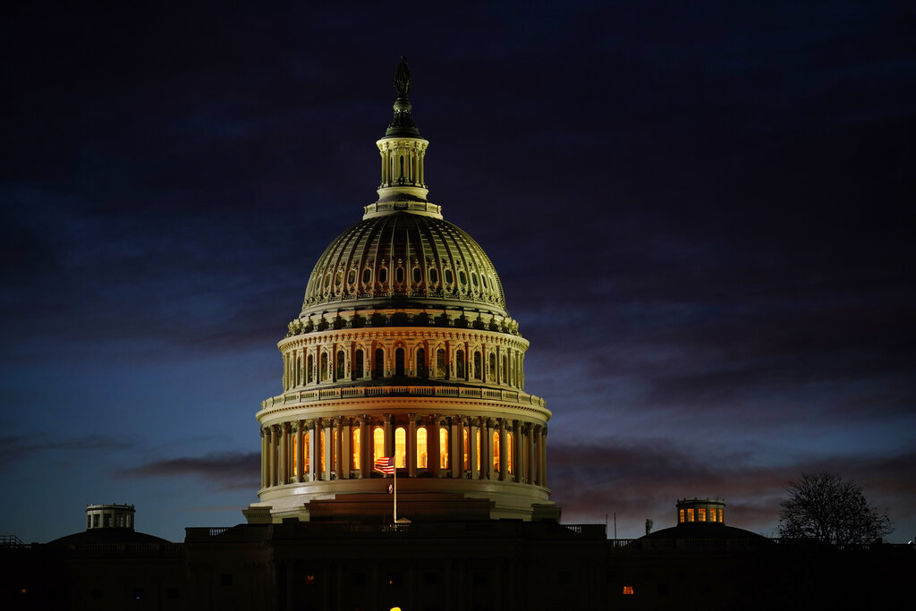 The Capitol on the morning of Election Day in Washington. (AP Photo/J. Scott Applewhite)