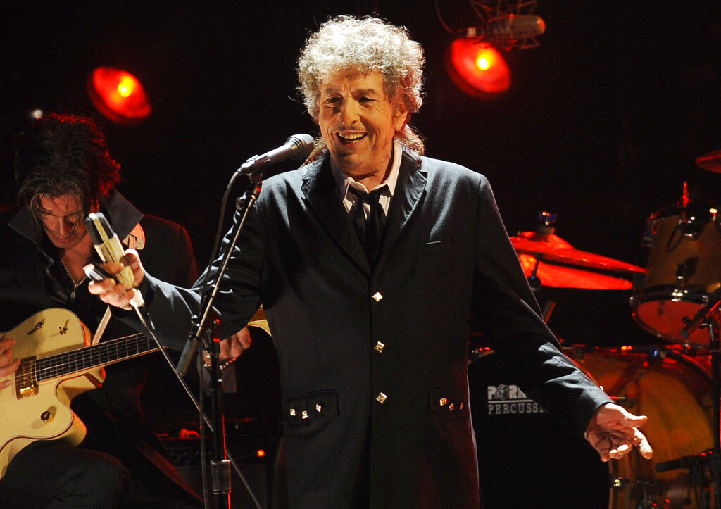 Bob Dylan performs in Los Angeles on Jan. 12, 2012. (AP Photo/Chris Pizzello, File)