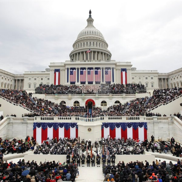 President Donald Trump delivers his inaugural address after being sworn in as the 45th president of the United States during the 58th Presidential Inauguration at the U.S. Capitol in Washington. (AP File Photo/Patrick Semansky)