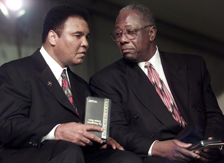 Hank Aaron and Muhammad Ali