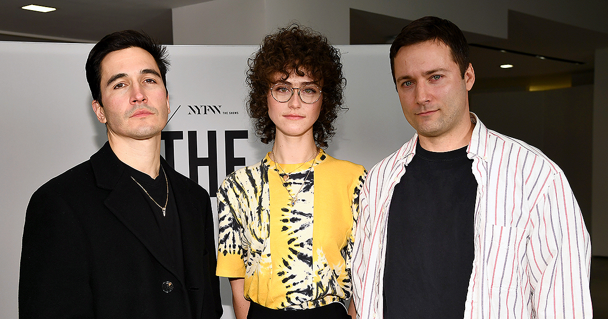 Designers Lazaro Hernandez, (L) and Jack McCollough pose with Ella Emhoff at NYFW The Talks during New York Fashion Week: The Shows in New York City. (Photo by Dimitrios Kambouris/Getty Images for NYFW: The Shows)
