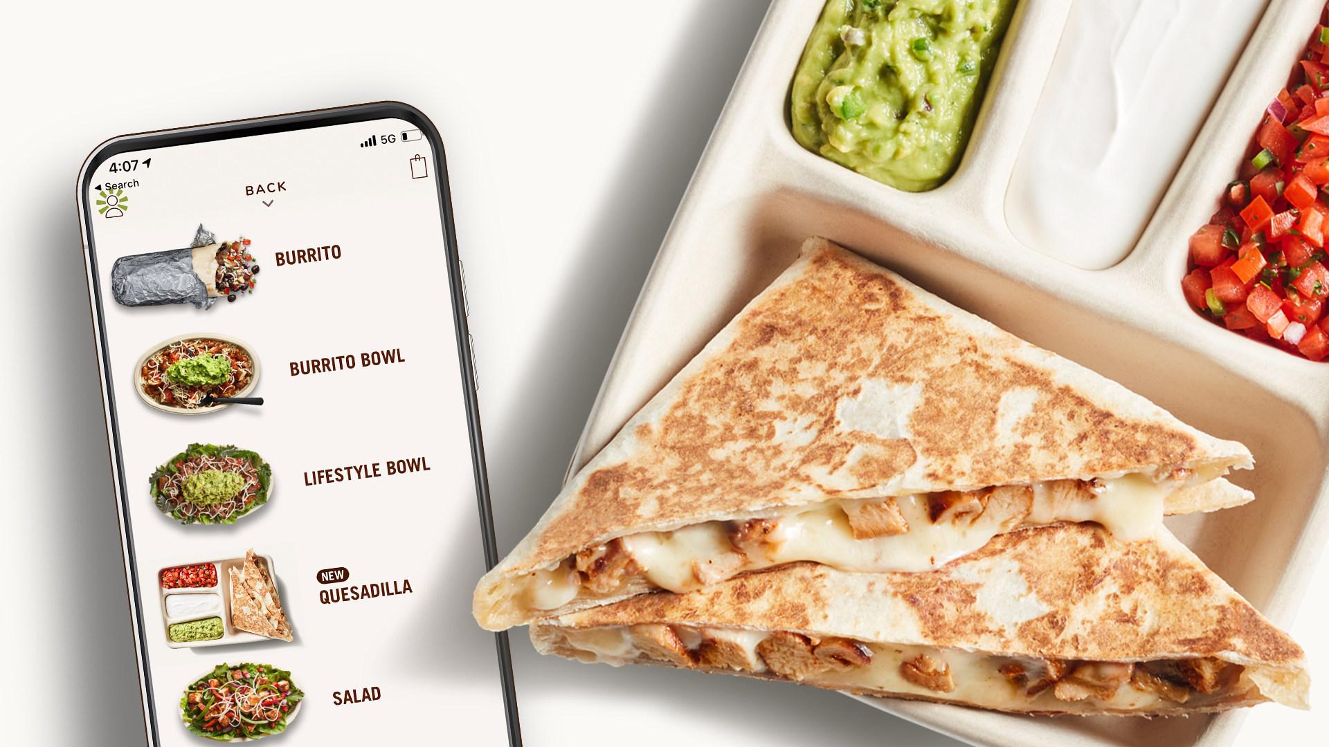 new chipotle quesadilla