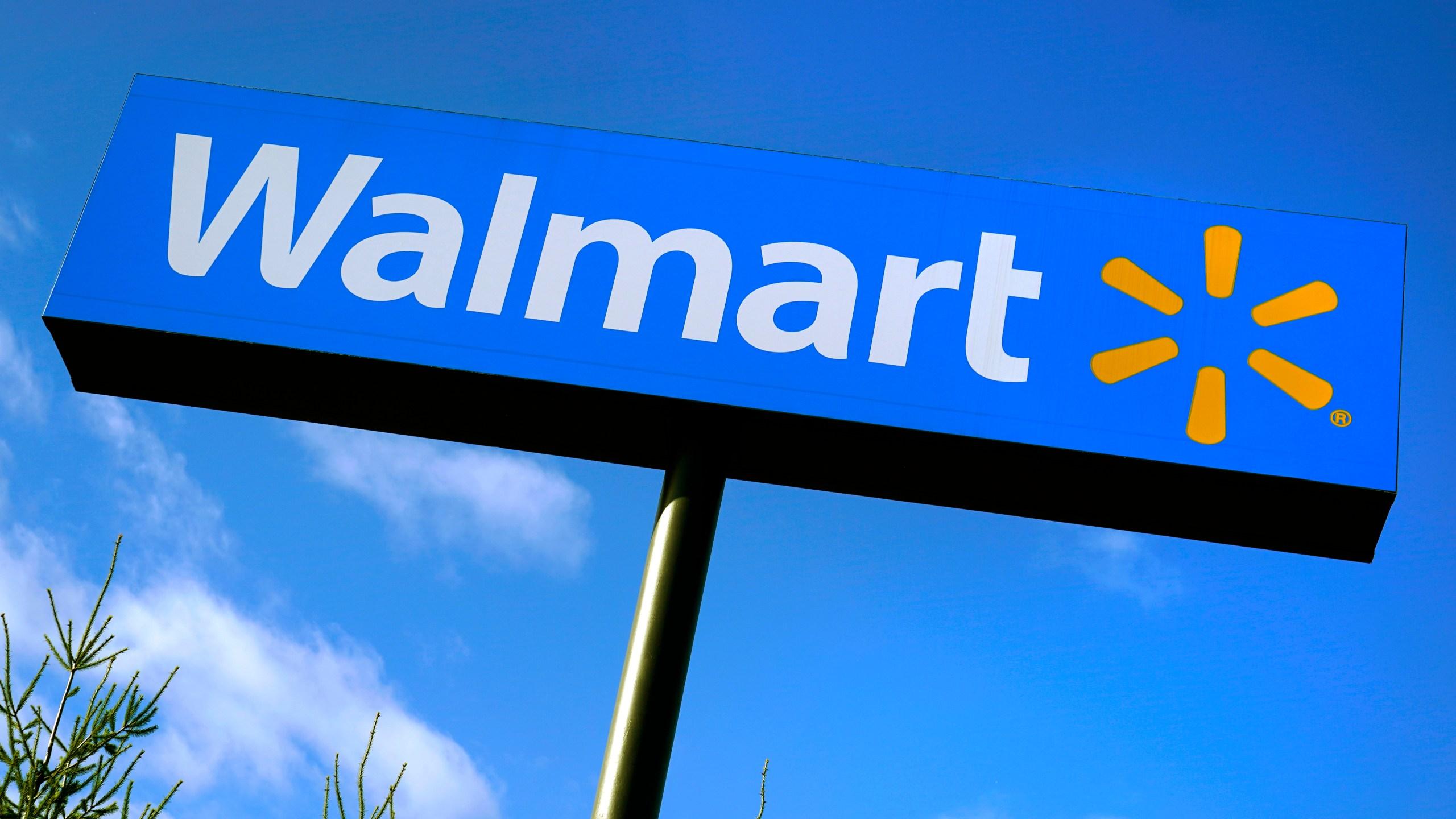 Walmart signage, logo