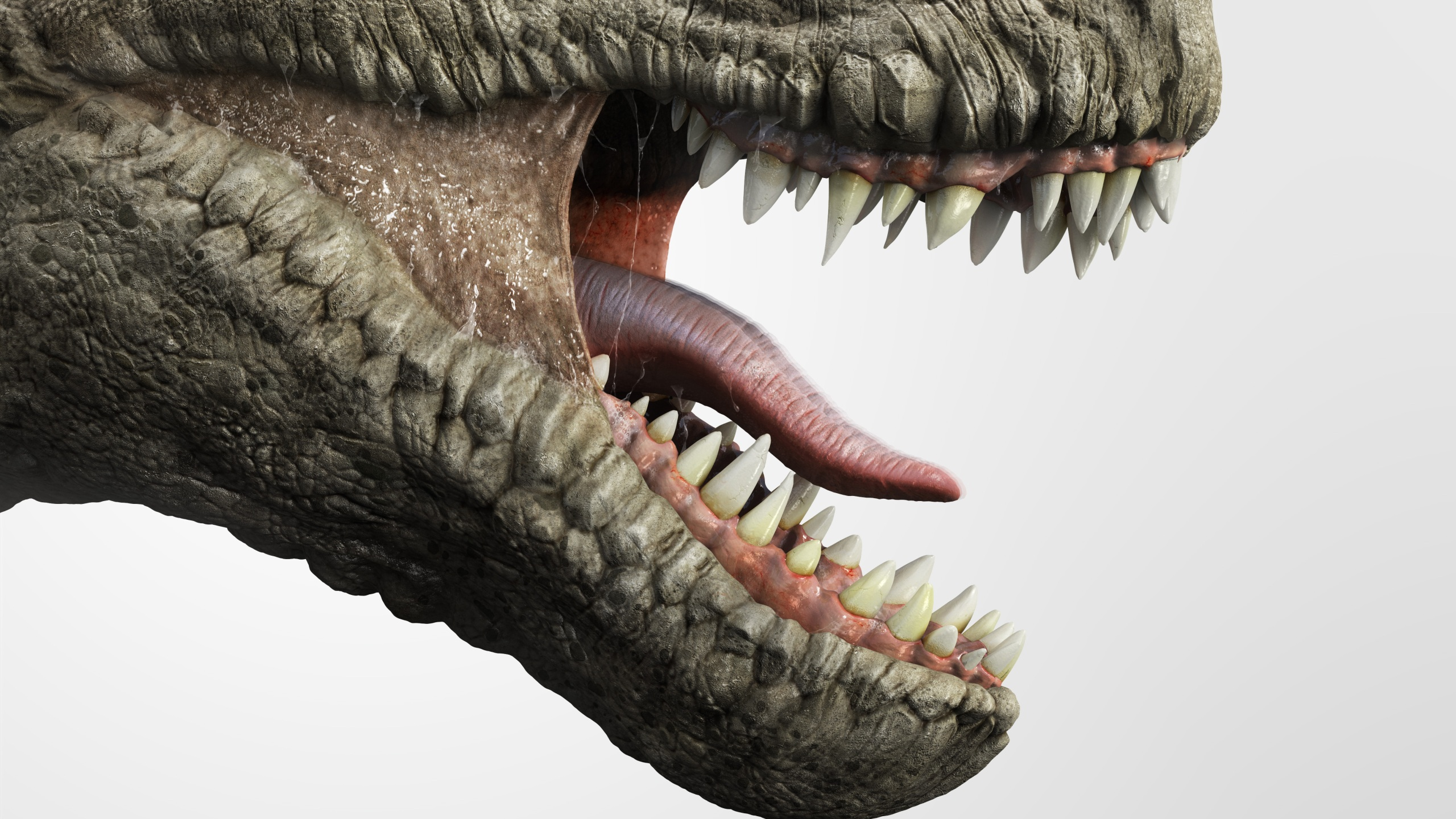 Close up of T-rex dinosaur mouth