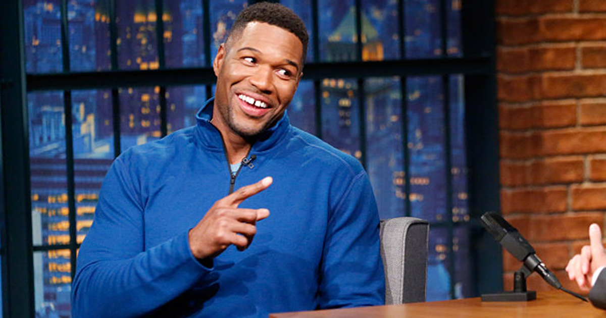 Michael Strahan tooth gap April Fools'