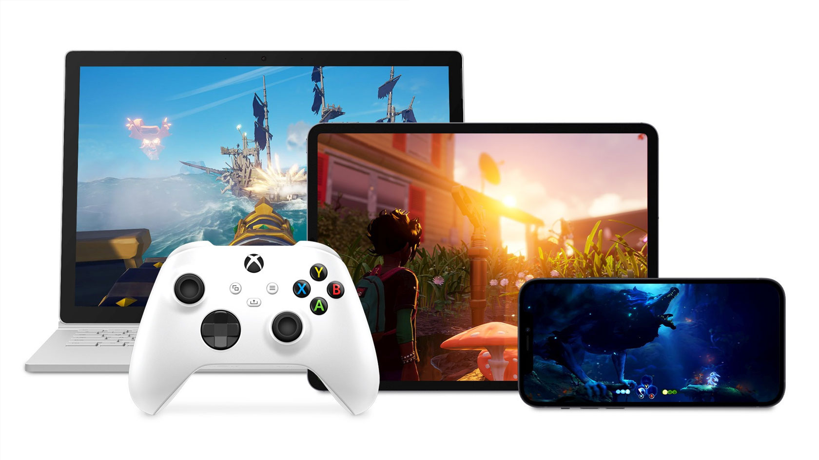 Xbox Controller, iPhone, iPad, and Surface