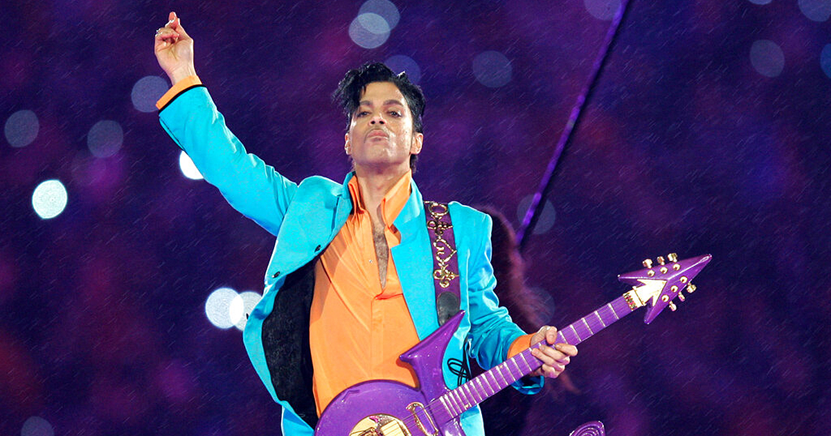Prince performs during the halftime show at the Super Bowl XLI football game in Miami. The music icon died of an accidental opioid overdose at his Paisley Park studio on April 21, 2016. (AP Photo/Chris O'Meara, File)