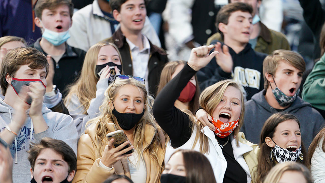 High school football fans