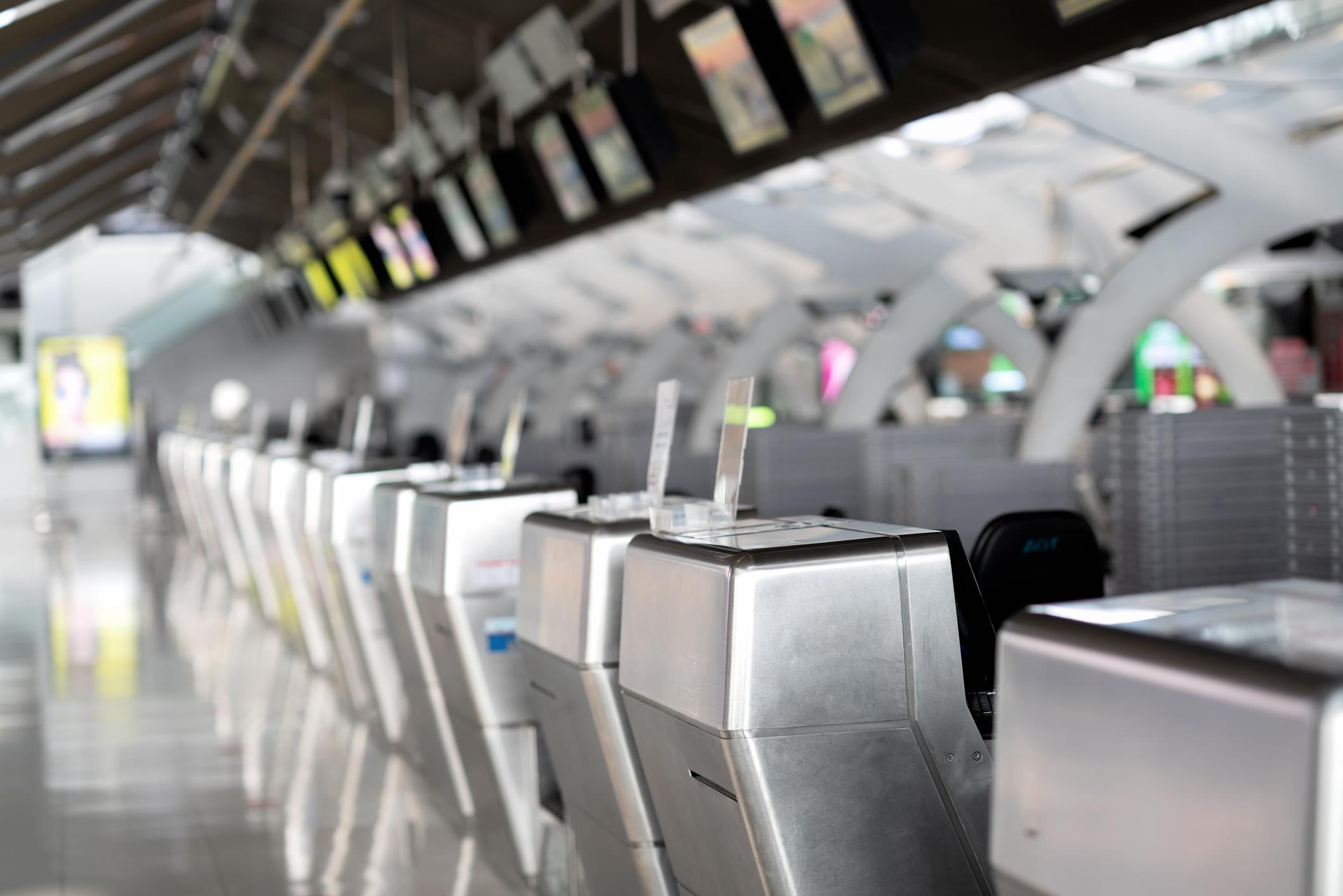 check-in desk airport