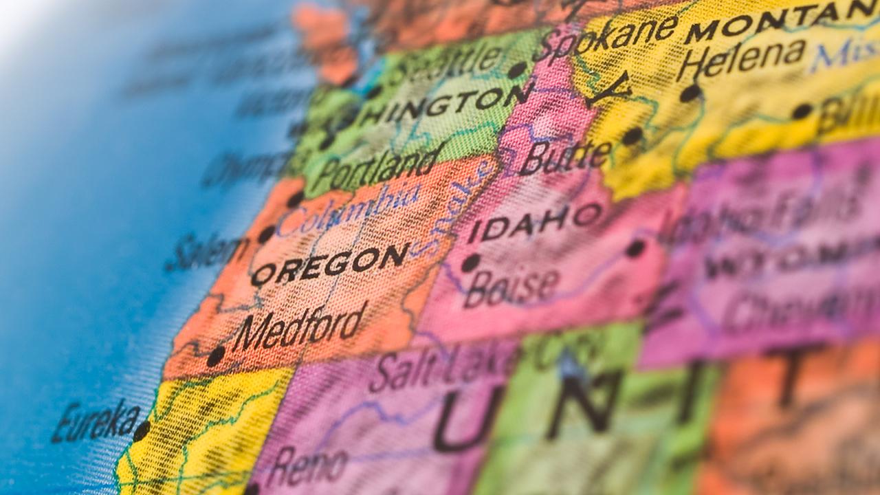 Oregon Idaho Map