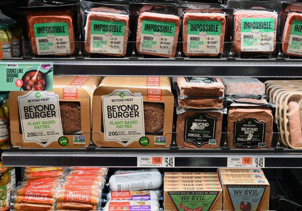 Plant Based Meat Supermarket Shelf