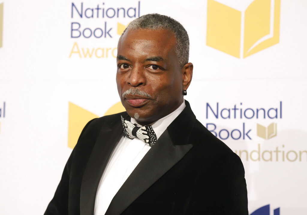 "LeVar Burton attends the 70th National Book Awards ceremony in New York in 2019. Burton launched the LeVar Burton Book Club with the Fable app, described on its website as a means to discover, read and discuss books, and help foster ""human connections"" and mental health. (Photo by Greg Allen/Invision/AP, File)"