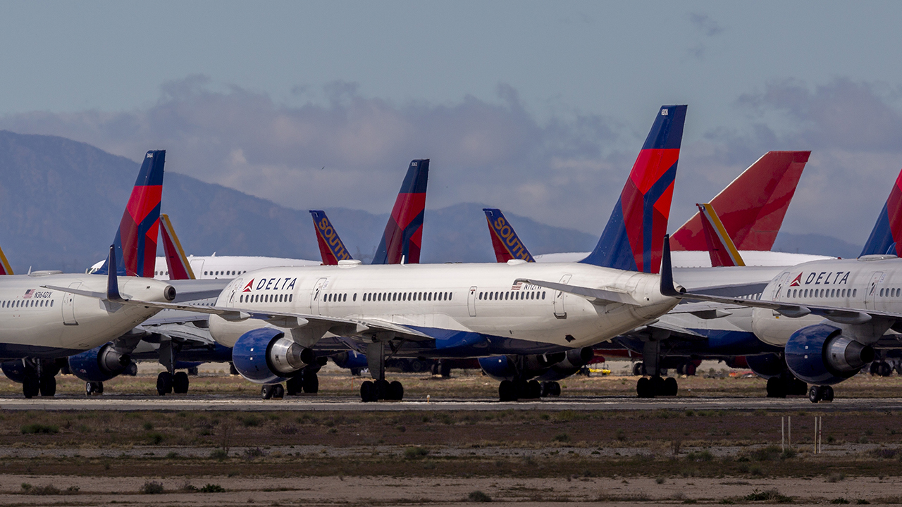 Delta Airlines Planes Parked Victorville
