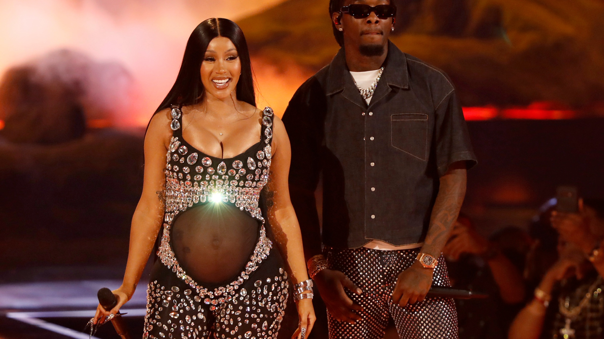 Cardi B and Offset of Migos perform onstage at the BET Awards 2021 at Microsoft Theater on June 27, 2021 in Los Angeles, California. (Photo by Johnny Nunez/Getty Images for BET)