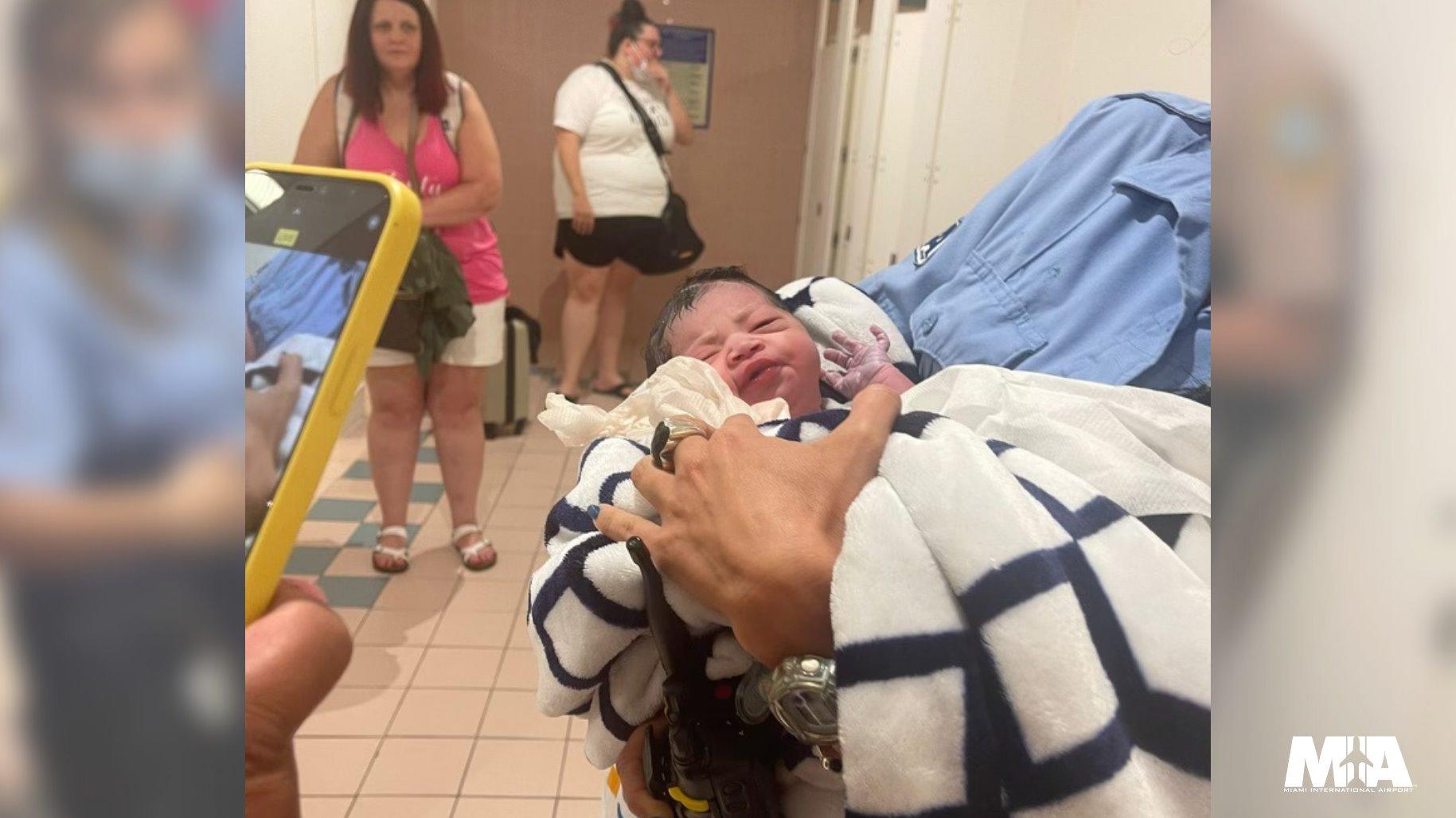 Baby Girl Mia Miami International Airport