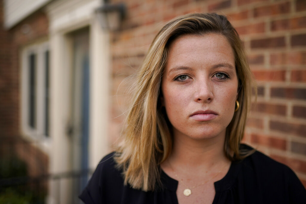 """Authorities in Pennsylvania filed an arrest warrant in a 2013 campus attack on Shannon Keeler at Gettysburg University, nearly eight years after the she went to police and a year after she received an online message that said, """"So I raped you.""""(AP Photo, File)"""