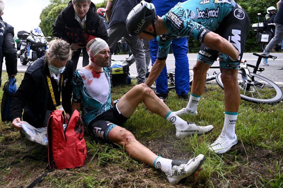 Cycling accident Tour de France