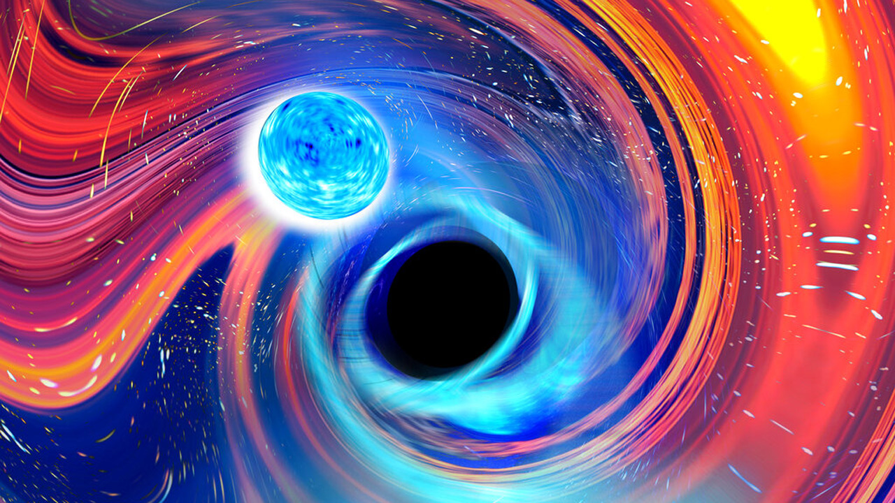 Black hole swallows neutron star