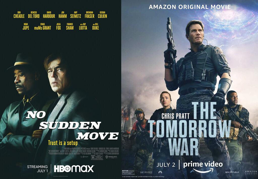 (HBO Max via AP, left, and Amazon via AP)