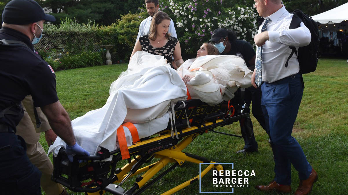 Bride Dislocate Knee (Rebecca Barger Photography)