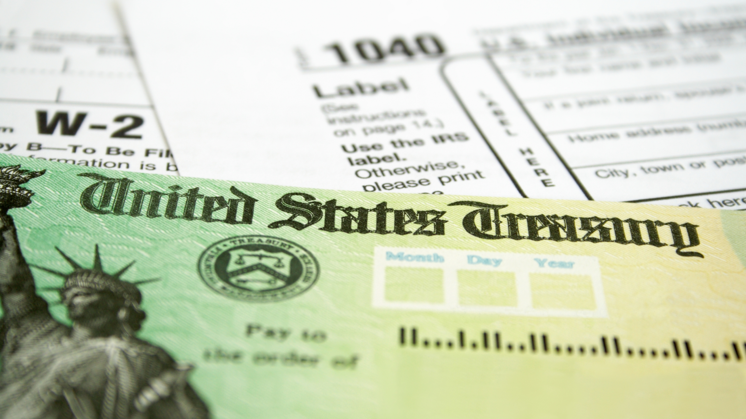 Income tax refund check