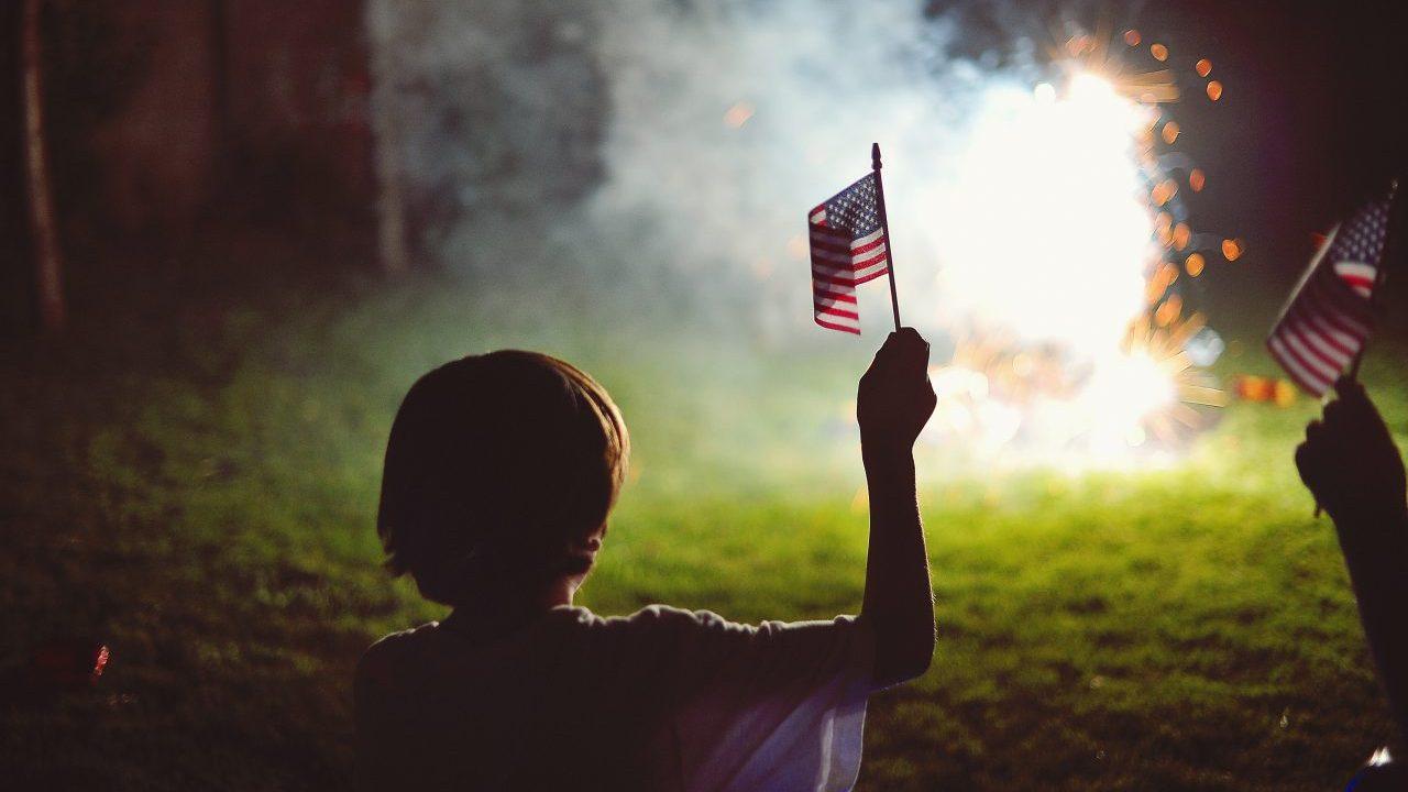 backyard Fireworks display