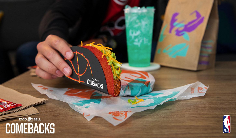 Taco Bell Flamin'Hot Doritos Locos Tacos