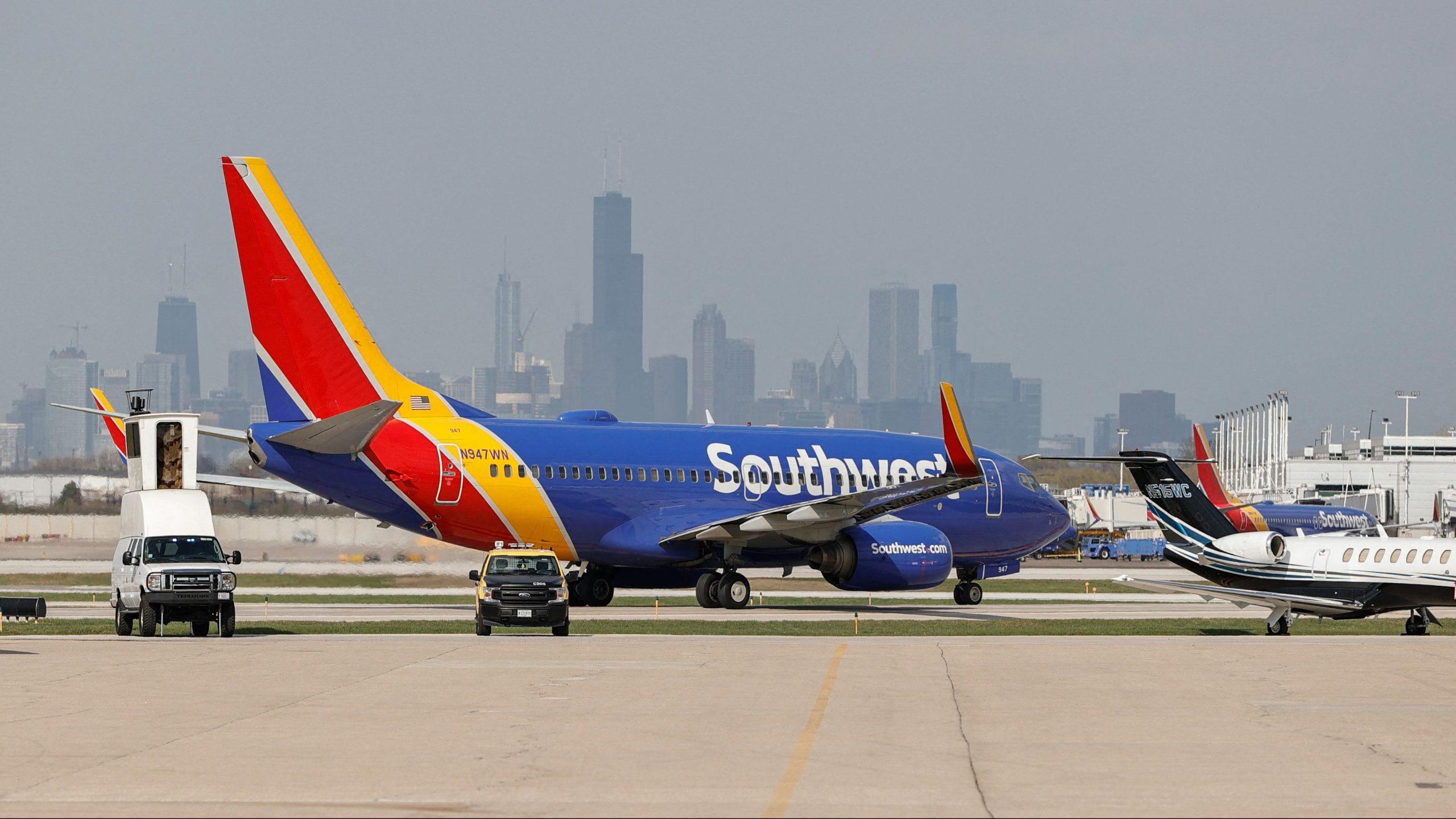 Southwest Airlines flight chicago