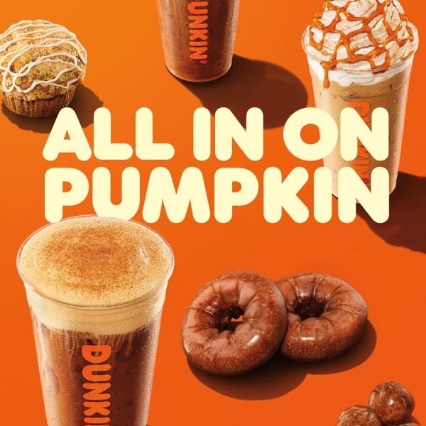 Dunkin' pumpkin
