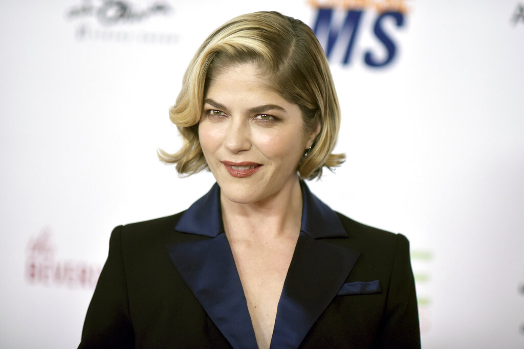 Selma Blair attends the 26th Annual Race to Erase MS Gala on, May 10, 2019, in Beverly Hills, Calif. Blair says she's in remission from multiple sclerosis as a result of undergoing stem cell transplantation. The 49-year-old actor was diagnosed with the disease in 2018. (Photo by Richard Shotwell/Invision/AP)