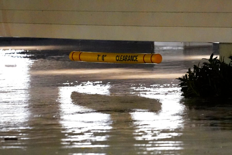 Flooding in the Manayunk section of Philadelphia in the aftermath of downpours and high winds from the remnants of Hurricane Ida that hit the area. (AP Photo/Matt Rourke)