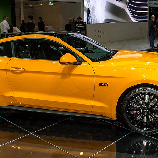 A Ford Mustang is displayed at the 88th Geneva International Motor Show. (Photo by Robert Hradil/Getty Images)
